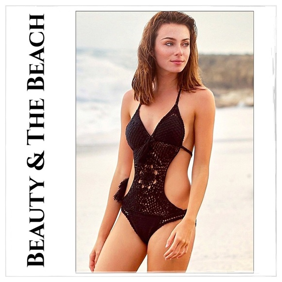 Beauty And The Beach Other - NWT Beauty And The Beach Blue Crochet Swimsuit